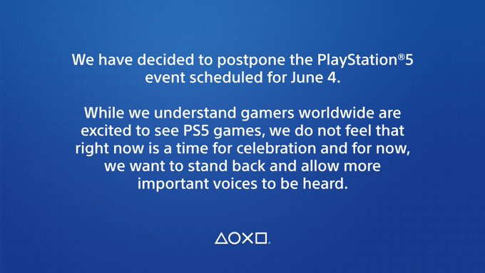PS5 postponed - official statement