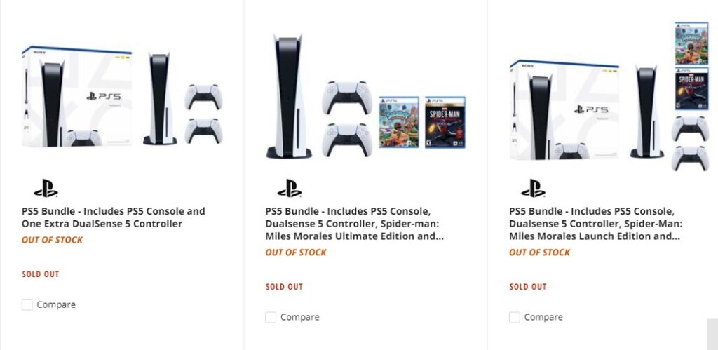 PS5 Sold out - new stock available